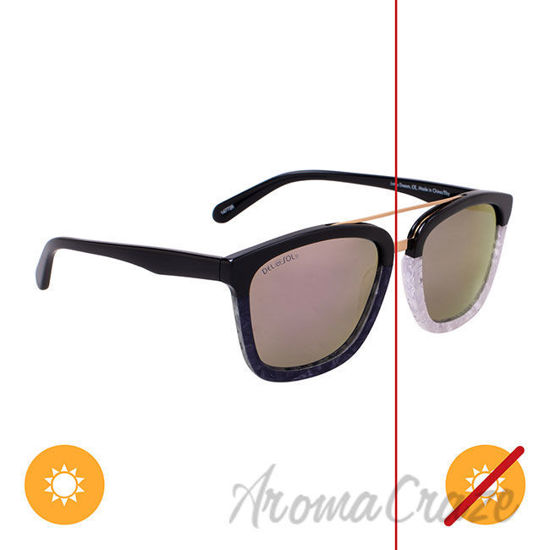 Picture of Solize Just a Dream - Black and Pearl to Ebony by DelSol for Unisex - 1 Pc Sunglasses