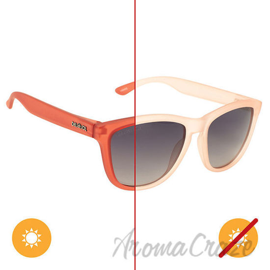 Picture of Solize Can You Feel It - Frosted Pink to Red by DelSol for Women - 1 Pc Sunglasses