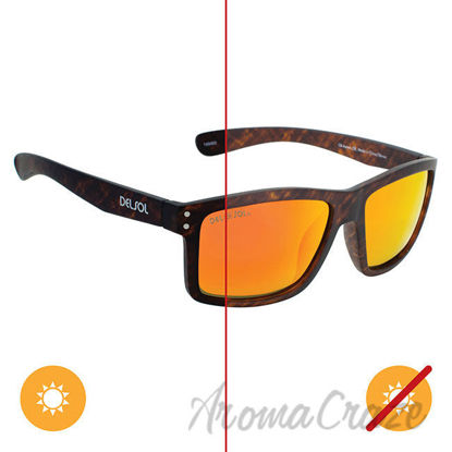 Picture of Solize Oh Aaron - Brown to Dark Brown by DelSol for Men - 1 Pc Sunglasses
