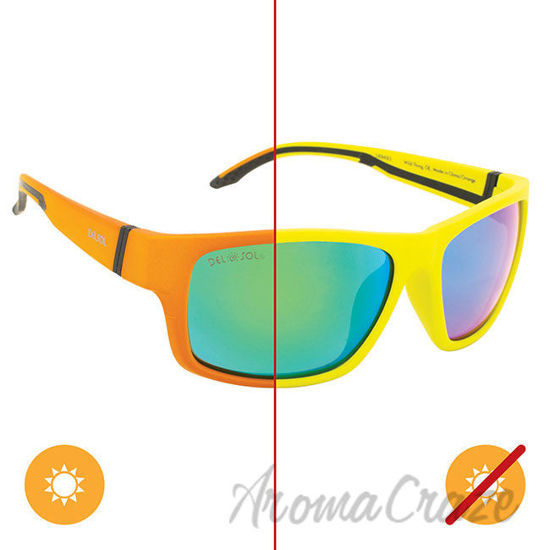 Picture of Solize Wild Thing - Green to Orange by DelSol for Men - 1 Pc Sunglasses
