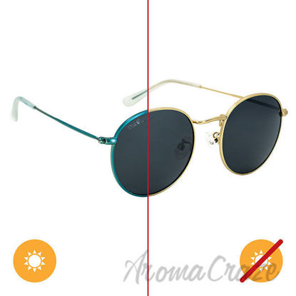 Picture of Solize Sea of Love - Gold to Blue by DelSol for Unisex - 1 Pc Sunglasses