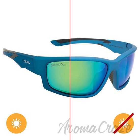 Picture of Solize Waves - Blue to Dark Blue by DelSol for Men - 1 Pc Sunglasses