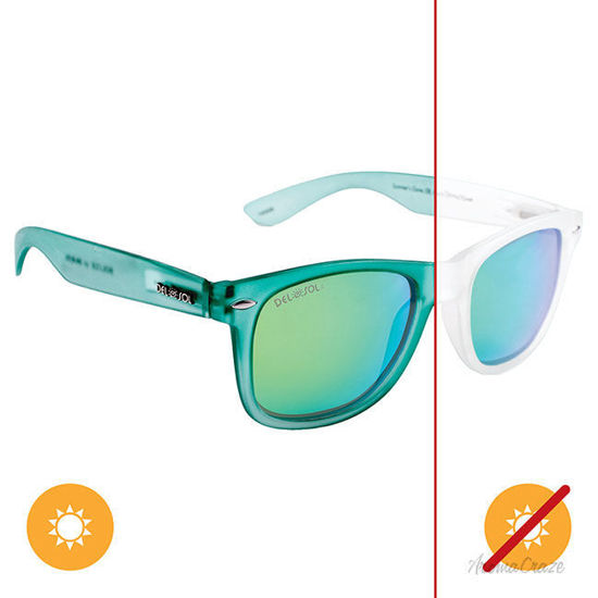 Solize Summers Gone - Clear-Green by DelSol for Unisex - 1 Pc Sunglasses