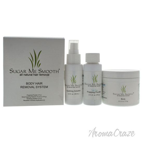 Picture of Body Hair Removal System Kit by Sugar Me Smooth for Unisex 5 Pc Kit