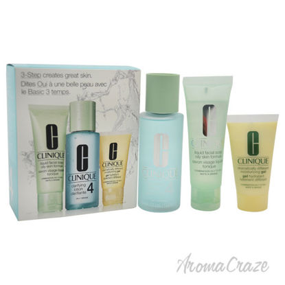 Picture of 3-Step Skin Care System For Skin Type 4 Oily by Clinique for Women 3 Pc Kit