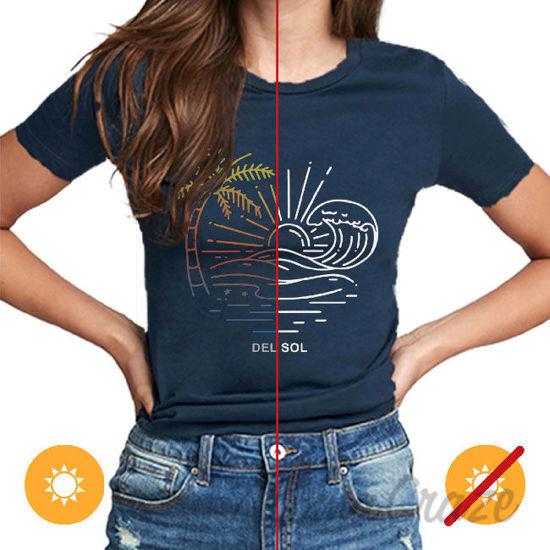 Picture of Men Crew Tee Sunny Beach Indigo by DelSol for Men 1 Pc T-Shirt (Medium)
