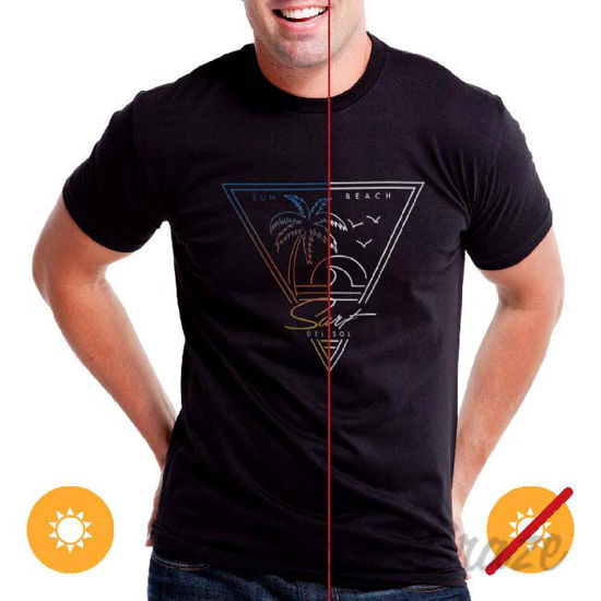 Picture of Men Crew Tee Surf Sun Beach Black by DelSol for Men 1 Pc T-Shirt (YS)