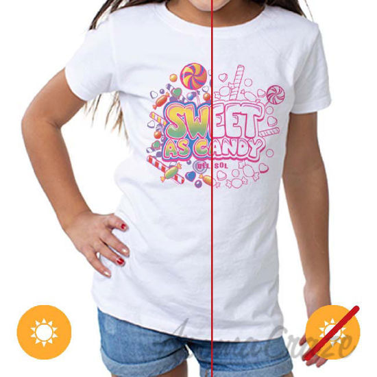 Picture of Girls Crew Tee Sweet As Candy White by DelSol for Women 1 Pc T-Shirt (4T)