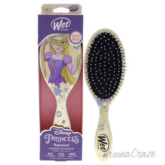 Picture of Original Detangler Princess Wholehearted Brush Rapunzel Silver by Wet Brush for Unisex 1 Pc Hair Brush