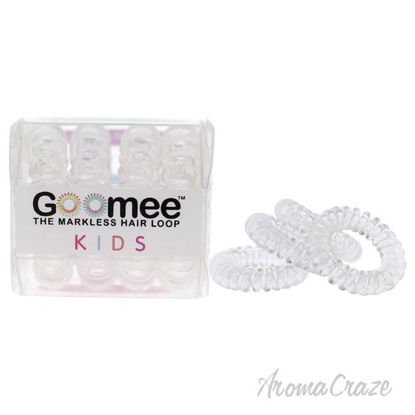 Picture of Kids The Markless Hair Loop Set Glass Slipper by Goomee for Kids 4 Pc Hair Tie