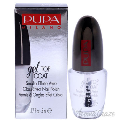Picture of Gel Top Coat Glass Effect Nail Polish by Pupa Milano for Women 0.17 oz Top Coat