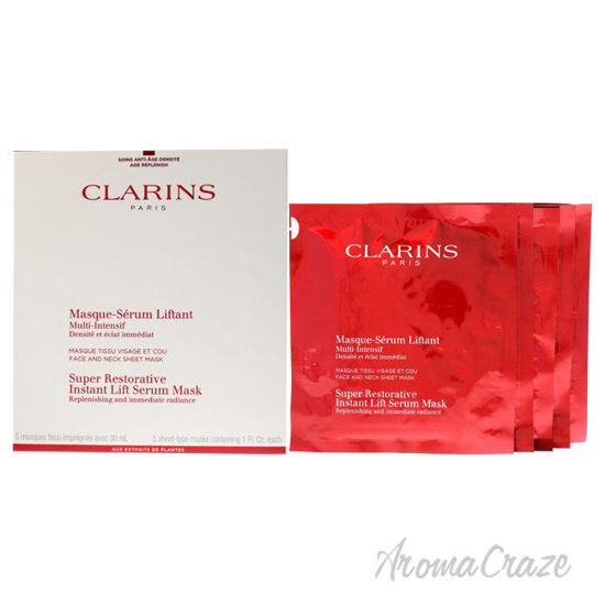 Picture of Super Restorative Instant Lift Serum Mask by Clarins for Women 5 Pc Mask