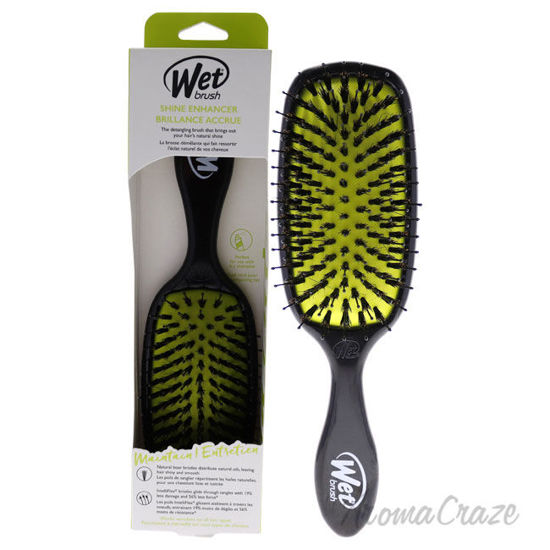 Picture of Shine Enhancer Detangling Brush Black and Green by Wet Brush for Unisex 1 Pc Hair Brush