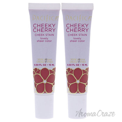 Picture of Cheeky Cherry Cheek Stain Wild Cherry by Pacifica for Women 0.5 oz Blush Pack of 2