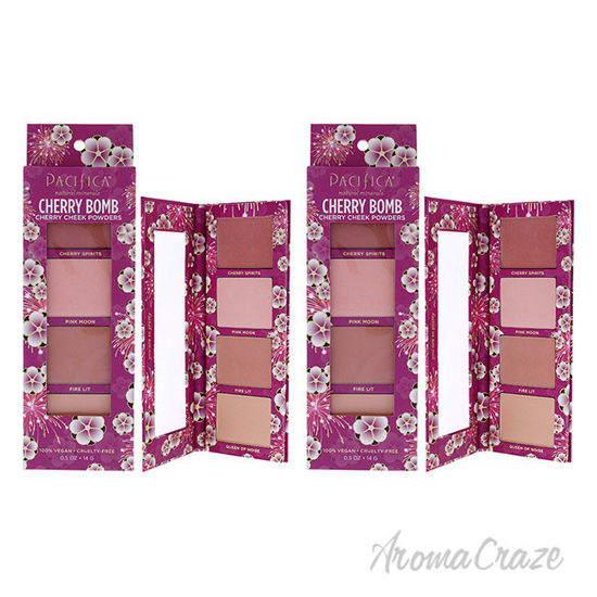 Picture of Cherry Bomb Cherry Cheek Powders by Pacifica for Women 0.5 oz Blush Pack of 2
