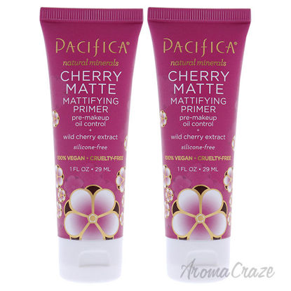 Picture of Cherry Matte Mattifying Primer by Pacifica for Women 1 oz Primer Pack of 2