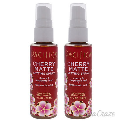 Picture of Cherry Matte Setting Spray by Pacifica for Women 2 oz Face Spray Pack of 2
