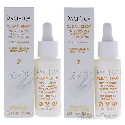 Picture of Clean Shot Mushrooms and Caffeine 7 Percent by Pacifica for Unisex 0.80 oz Serum Pack of 2