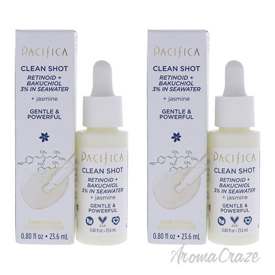 Picture of Clean Shot Retinoid and Bakuchiol 3 Percent In Seawater by Pacifica for Unisex 0.8 oz Serum Pack of 2