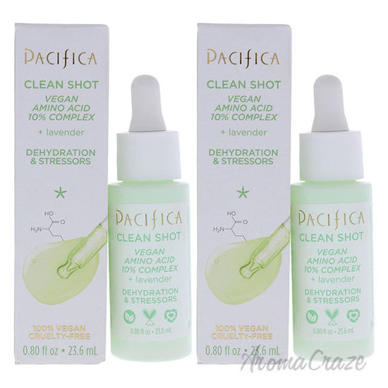 Picture of Clean Shot Vegan Amino Acid 10 Percent Complex by Pacifica for Unisex 0.8 oz Serum Pack of 2