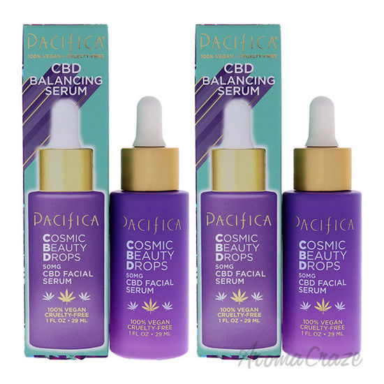 Picture of Cosmic Beauty Drops CBD Balancing Serum by Pacifica for Unisex 1 oz Serum Pack of 2