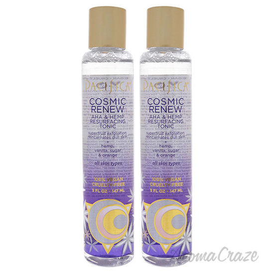 Picture of Cosmic Renew AHA and Hemp Resurfacing Tonic by Pacifica for Unisex 5 oz Tonic Pack of 2