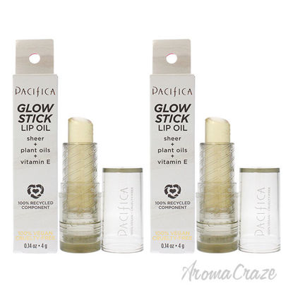 Picture of Glow Stick Lip Oil Clear Sheer by Pacifica for Women 0.14 oz Lip Oil Pack of 2