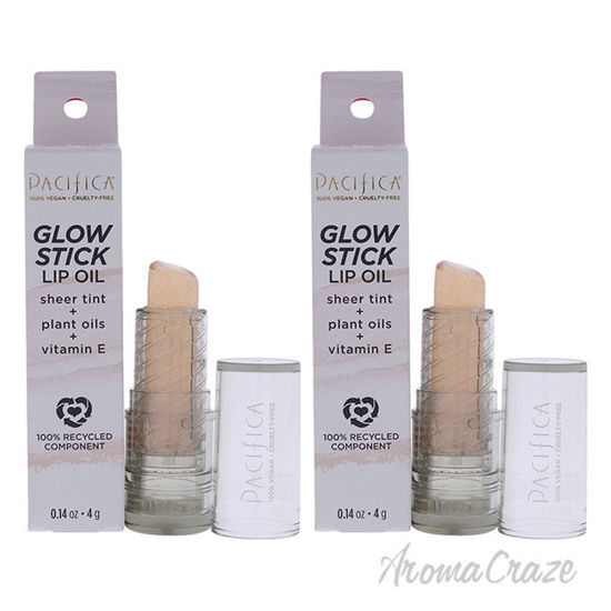 Picture of Glow Stick Lip Oil Pink Sheer by Pacifica for Women 0.14 oz Lip Oil Pack of 2