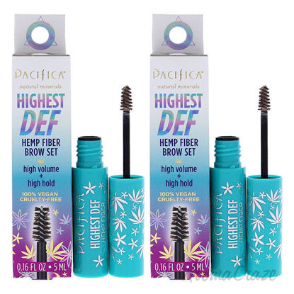 Picture of Highest Def Hemp Fiber Brow Set 1 Light by Pacifica for Women 0.16 oz Eyebrow Gel Pack of 2