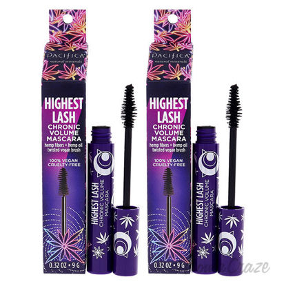 Picture of Highest Lash Chronic Volume Mascara Ultra Black by Pacifica for Women 0.32 oz Mascara Pack of 2