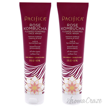 Picture of Rose Kombucha Flower Powered Face Wash by Pacifica for Unisex 5 oz Cleanser Pack of 2