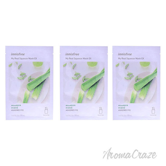 Picture of My Real Squeeze Mask Aloe by Innisfree for Unisex 0.67 oz Mask Pack of 3