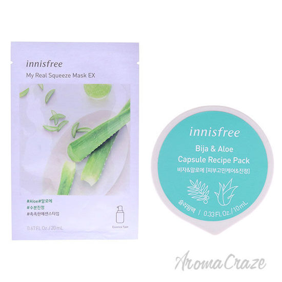 Picture of Innisfree Mask Bija and Aloe Kit by Innisfree for Unisex 2 Pc Kit