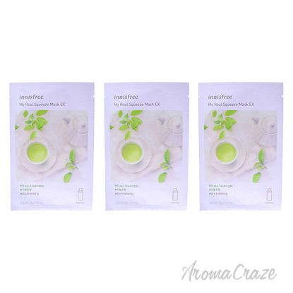 Picture of My Real Squeeze Mask Green Tea by Innisfree for Unisex 0.67 oz Mask Pack of 3