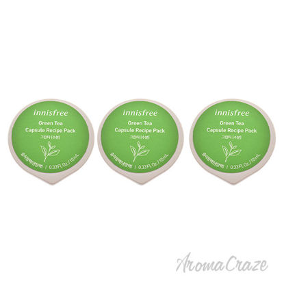 Picture of Capsule Recipe Pack Mask Green Tea by Innisfree for Unisex 0.33 oz Mask Pack of 3