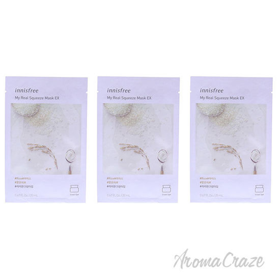 Picture of My Real Squeeze Mask Rice by Innisfree for Unisex 0.67 oz Mask Pack of 3