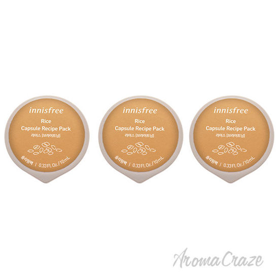 Picture of Capsule Recipe Pack Mask Rice by Innisfree for Unisex 0.33 oz Mask Pack of 3