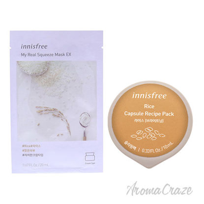 Picture of Innisfree Mask Rice Kit by Innisfree for Unisex 2 Pc Kit
