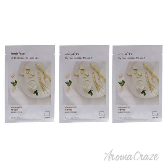 Picture of My Real Squeeze Mask Ginseng by Innisfree for Unisex 0.67 oz Mask Pack of 3