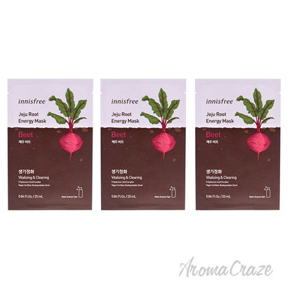 Picture of Jeju Root Energy Mask Beet by Innisfree for Unisex 0.84 oz Mask Pack of 3