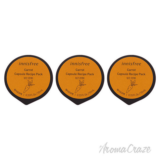 Picture of Capsule Recipe Pack Mask Carrot by Innisfree for Unisex 0.33 oz Mask Pack of 3