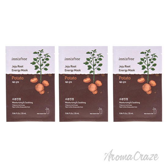 Picture of Jeju Root Energy Mask Potato by Innisfree for Unisex 0.84 oz Mask Pack of 3
