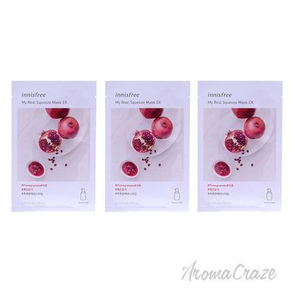 Picture of My Real Squeeze Mask Pomegranate by Innisfree for Unisex 0.67 oz Mask Pack of 3