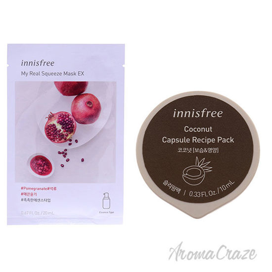 Picture of Innisfree Mask Pomegranate and Coconut Kit by Innisfree for Unisex 2 Pc Kit