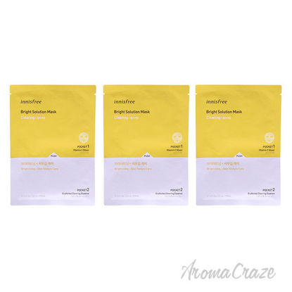 Picture of Bright Solution Mask Clearing by Innisfree for Unisex 0.74 oz Mask Pack of 3