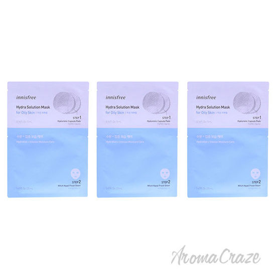 Picture of Hydra Solution Mask by Innisfree for Unisex 0.67 oz Mask Pack of 3