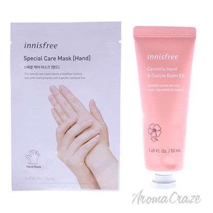 Picture of Hand Mask and Hand and Cuticle Balm Kit by Innisfree for Unisex 2 Pc Kit