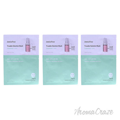 Picture of Trouble Solution Mask Calamine by Innisfree for Unisex 0.67 oz Mask Pack of 3