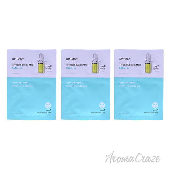 Picture of Trouble Solution Mask Sulfur by Innisfree for Unisex 0.67 oz Mask Pack of 3