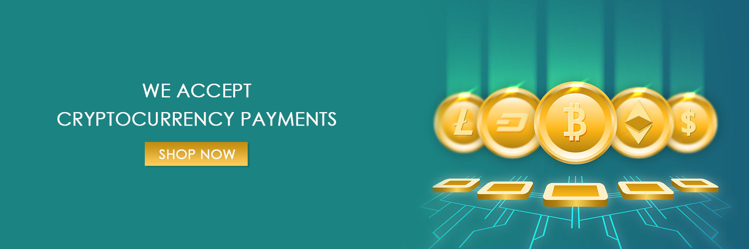 We accept Crypto Currency Payments